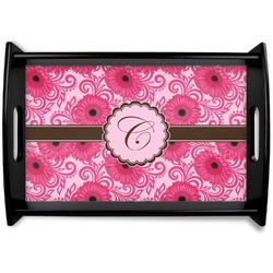 Gerbera Daisy Black Wooden Tray (Personalized)