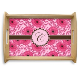 Gerbera Daisy Natural Wooden Tray (Personalized)