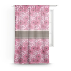 "Gerbera Daisy Sheer Curtain - 50""x84"" (Personalized)"