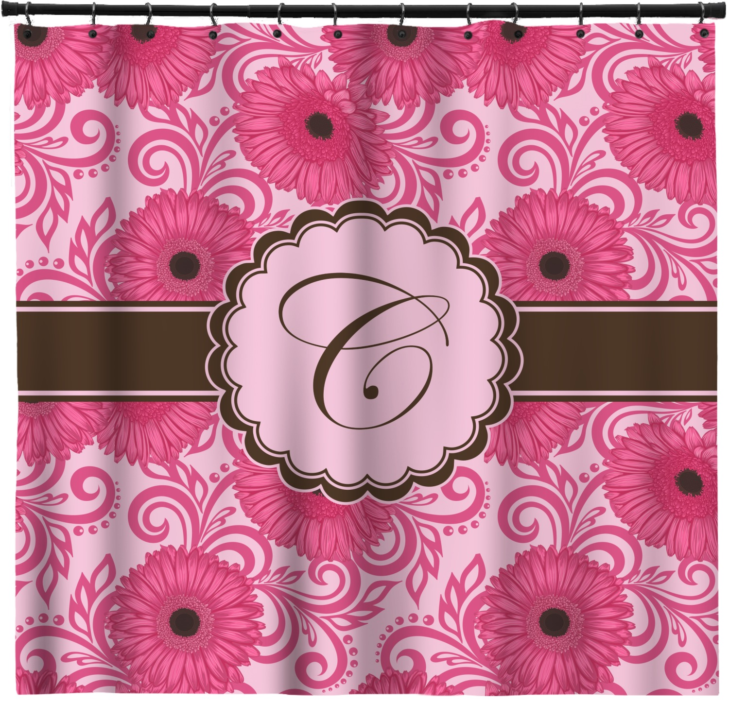 Gerbera Daisy Shower Curtain Personalized