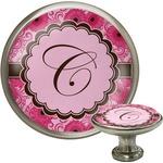 Gerbera Daisy Cabinet Knob (Silver) (Personalized)