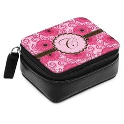 Gerbera Daisy Small Leatherette Travel Pill Case (Personalized)