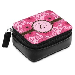 Gerbera Daisy Small Leatherette Travel Pill Case (Personalized)