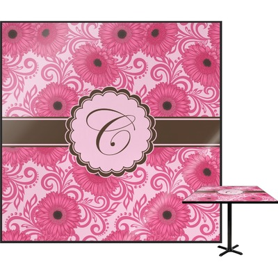 Gerbera Daisy Square Table Top (Personalized)