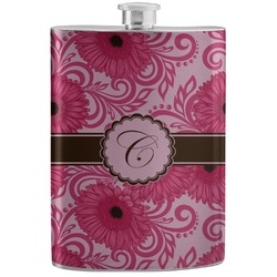 Gerbera Daisy Stainless Steel Flask (Personalized)