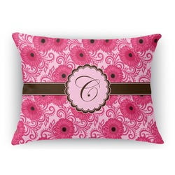 Gerbera Daisy Rectangular Throw Pillow (Personalized)
