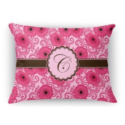 Gerbera Daisy Rectangular Throw Pillow Case (Personalized)