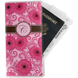 Gerbera Daisy Travel Document Holder