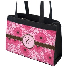 Gerbera Daisy Zippered Everyday Tote (Personalized)