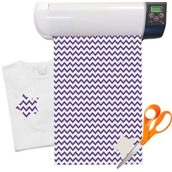 Chevron Pattern Heat Transfer Vinyl Sheet (12