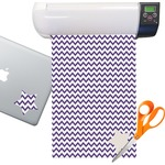 Chevron Pattern Sticker Vinyl Sheet (Permanent)