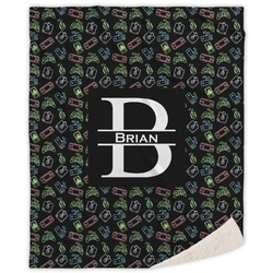 Video Game Sherpa Throw Blanket (Personalized)