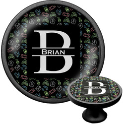 Video Game Cabinet Knob (Black) (Personalized)