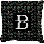 Video Game Faux-Linen Throw Pillow (Personalized)
