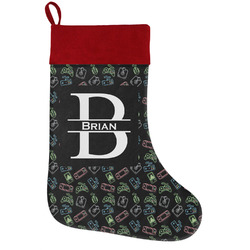 Video Game Holiday Stocking w/ Name and Initial
