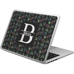 Video Game Laptop Skin - Custom Sized w/ Name and Initial