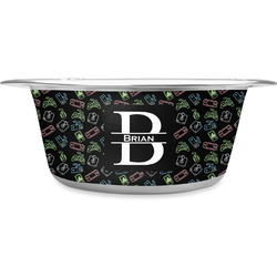 Video Game Stainless Steel Dog Bowl (Personalized)