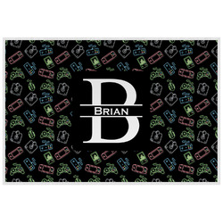 Video Game Laminated Placemat w/ Name and Initial