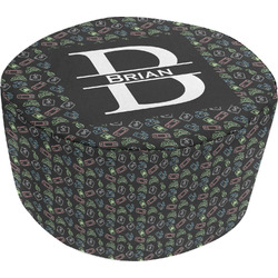 Video Game Round Pouf Ottoman (Personalized)