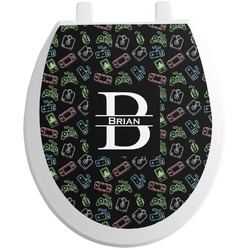 Video Game Toilet Seat Decal (Personalized)