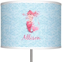 """Mermaid 13"""" Drum Lamp Shade Polyester (Personalized)"""