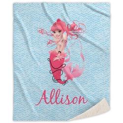 Mermaid Sherpa Throw Blanket (Personalized)