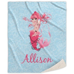 Mermaid Sherpa Throw Blanket (Personalized)