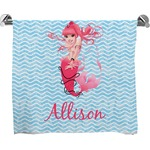 Mermaid Full Print Bath Towel (Personalized)