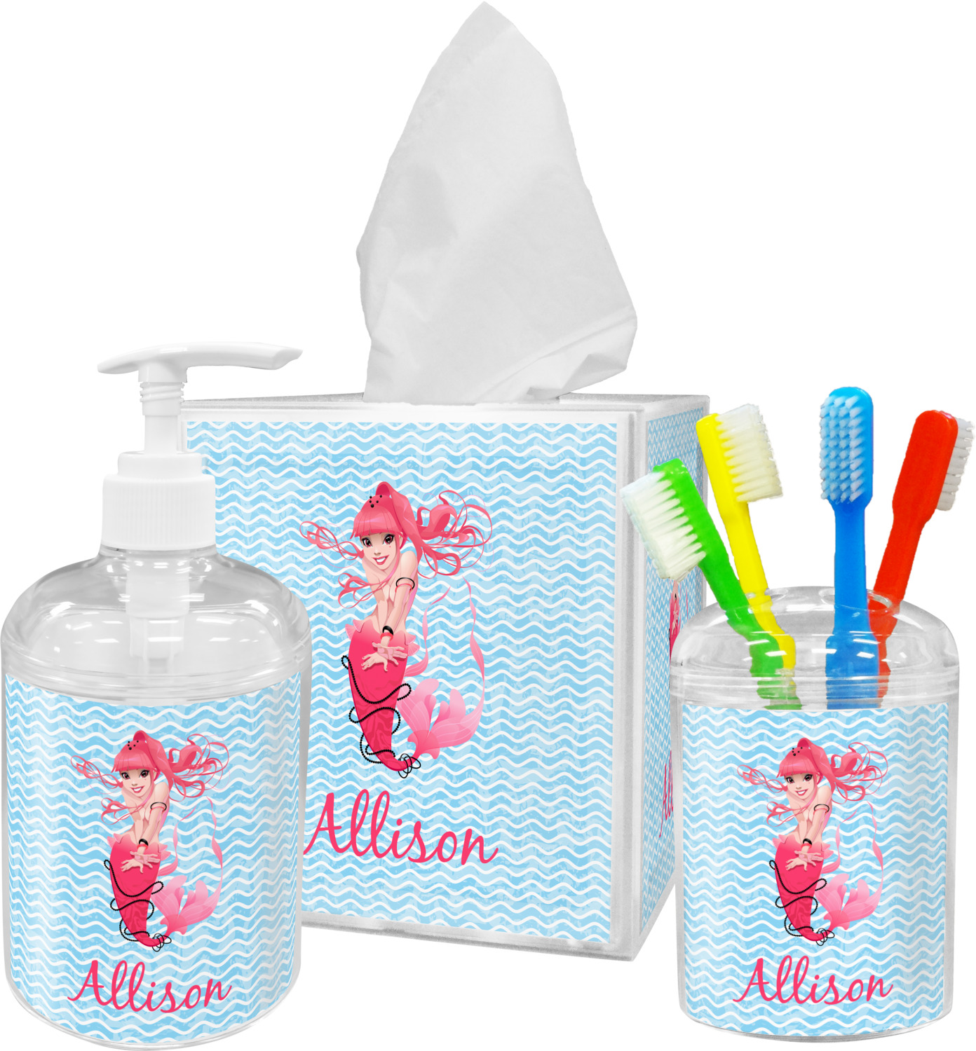 Ordinaire Mermaid Bathroom Accessories Set (Personalized)