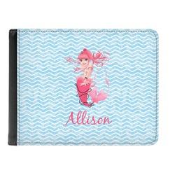 Mermaid Genuine Leather Men's Bi-fold Wallet (Personalized)