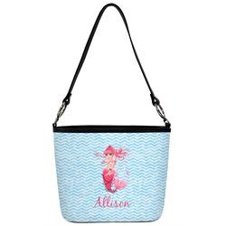 Mermaid Bucket Bag w/ Genuine Leather Trim (Personalized)