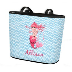 Mermaid Bucket Tote w/ Genuine Leather Trim (Personalized)