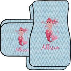Mermaid Car Floor Mats Set - 2 Front & 2 Back (Personalized)