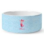 Mermaid Ceramic Dog Bowl (Personalized)