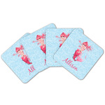 Mermaid Cork Coaster - Set of 4 w/ Name or Text