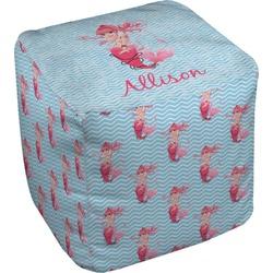 Mermaid Cube Pouf Ottoman (Personalized)