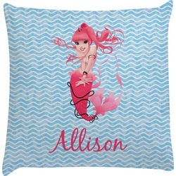 Mermaid Decorative Pillow Case (Personalized)