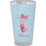 Mermaid Drinking / Pint Glass (Personalized)