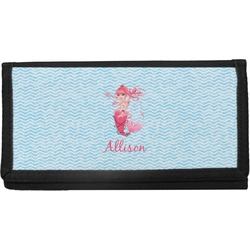Mermaid Canvas Checkbook Cover (Personalized)