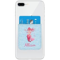 Mermaid Genuine Leather Adhesive Phone Wallet (Personalized)