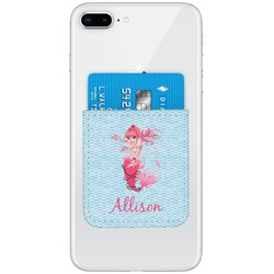 Mermaid Genuine Leather Adhesive Phone Wallet (Personalized)