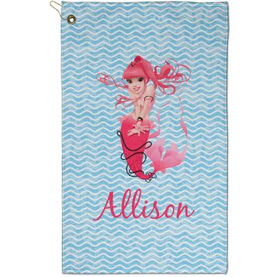 Mermaid Golf Towel - Full Print - Small w/ Name or Text