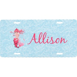 Mermaid Front License Plate (Personalized)