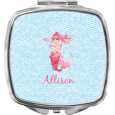 Mermaid Compact Makeup Mirror (Personalized)
