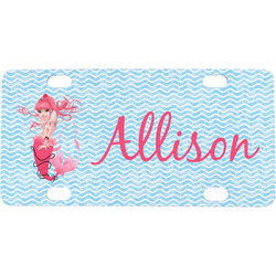Mermaid Mini / Bicycle License Plate (4 Holes) (Personalized)