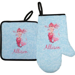 Mermaid Oven Mitt & Pot Holder (Personalized)