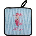 Mermaid Pot Holder w/ Name or Text