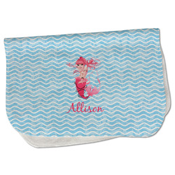 Mermaid Burp Cloth - Fleece w/ Name or Text