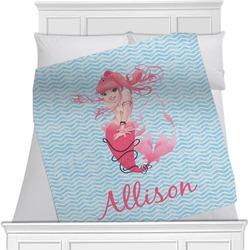 """Mermaid Fleece Blanket - Twin / Full - 80""""x60"""" - Single Sided (Personalized)"""