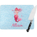 Mermaid Rectangular Glass Cutting Board (Personalized)